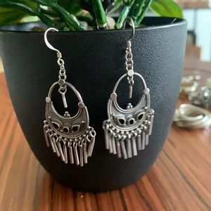 925 sterling silver earrings with onyx stone